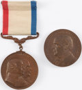 Political:Inaugural (1789-present), William McKinley: Official Inaugural Medal and Bonus.... (Total: 2 Items)