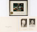 Political:Small Paper (1896-present), Dwight D. Eisenhower: White House Christmas Cards....