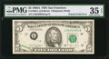 Error Notes:Foldovers, Fr. 1980-L $5 1988A Federal Reserve Note. PMG Choice Very Fine 35 EPQ.. ...