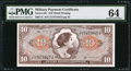 Military Payment Certificates:Series 641, Series 641 $10 PMG Choice Uncirculated 64.. ...