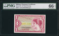 Military Payment Certificates:Series 641, Series 641 $1 PMG Gem Uncirculated 66 EPQ.. ...