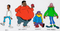 Animation Art:Color Model, Fat Albert and the Cosby Kids Color Model Cel Group of 2 (Filmation, 1972).... (Total: 2 )
