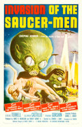 "Movie Posters:Science Fiction, Invasion of the Saucer-Men (American International, 1957). OneSheet (27"" X 41""). Albert Kallis Artwork.. ..."