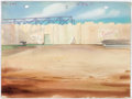 Animation Art:Painted cel background, Shipyard Symphony Painted Background Group of 2 (Terrytoons,1942).... (Total: 2 )