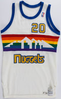 Basketball Collectibles:Uniforms, 1984-86 Elston Turner Game Worn Denver Nuggets Jersey andShorts....
