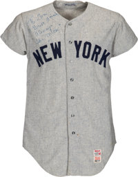 1968 Mickey Mantle Game Worn New York Yankees Jersey Attributed to 535th Home Run, MEARS A10