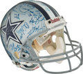 Football Collectibles:Others, 1992-93 Dallas Cowboys Super Bowl Team Signed Helmet with Jimmy Johnson and Jerry Jones. ...