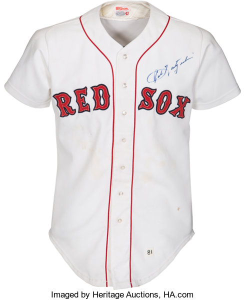 quality design 49f87 dc615 1981 Carl Yastrzemski Game Worn Boston Red Sox Jersey ...