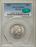 Coins of Hawaii , 1883 25C Hawaii Quarter MS64 PCGS. CAC. PCGS Population: (350/326).NGC Census: (241/275). CDN: $400 Whsle. Bid for problem...