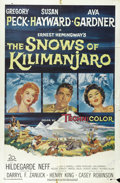 "Movie Posters:Adventure, The Snows of Kilimanjaro (20th Century Fox, 1952). One Sheet (27"" X41""). Taken from the short story by Ernest Hemingway, th..."