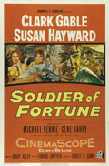 "Movie Posters:Adventure, Soldier of Fortune (20th Century Fox, 1955). One Sheet (27"" X 41"").Clark Gable takes on Communist China in order to rescue ..."