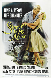 "Stranger in My Arms (Universal International, 1959). One Sheet (27"" X 41""). Jeffrey Chandler is an Air Force p..."