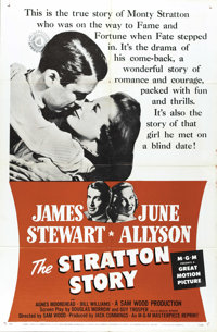"The Stratton Story (MGM, R-1956). One Sheet (27"" X 41""). The one and only James Stewart stars as Monty Stratto..."