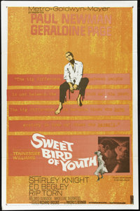 "Sweet Bird Of Youth (MGM, 1962). One Sheet (27"" X 41""). Paul Newman stars as Chance Wayne in this Tennessee Wi..."