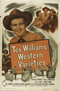 "Movie Posters:Short Subject, Tex Williams' Western Varieties (Universal, 1951). One Sheet (27"" X41""). Tex Williams and his Western Caravan band was one ..."