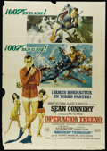 "Movie Posters:Action, Thunderball (United Artists, 1965). Spanish One Sheet (27"" X 41"").Spanish language poster for the James Bond thriller starr..."