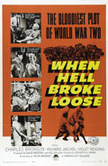 "Movie Posters:War, When Hell Broke Loose (Paramount, 1958). One Sheet (27"" X 41"").Charles Bronson stars in this World War II action adventure ..."