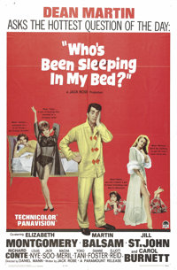 """Who's Been Sleeping in My Bed? (Paramount, 1963). One Sheet (27"""" X 41""""). This 60s sex comedy is anchored by De..."""