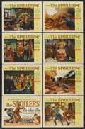 """Movie Posters:Adventure, The Spoilers (Universal International, 1955). Lobby Card Set of 8(11"""" X 14""""). Adventure. ... (Total: 8 Items)"""