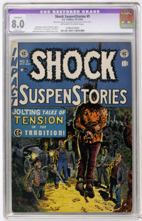 Shock SuspenStories #5 (EC, 1952) CGC Apparent VF 8.0 Slight (A) Off-white to white pages