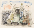 Fine Art - Painting, American:Modern  (1900 1949)  , JOHN MARIN (American 1870-1953). John and Billie in theBoat, 1949. Watercolor on paper. 6 x 9 inches (15.2 x 22.9 cm)....