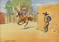 Fine Art - Painting, American:Modern  (1900 1949)  , LEONARD HOWARD REEDY (American 1899-1956). The Vaquero.Watercolor on paper. 8 x 10 inches (20.3 x 25.4 cm). Signed lowe...