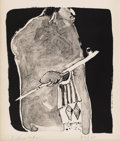Fine Art - Painting, American:Contemporary   (1950 to present)  , FRITZ SCHOLDER (American b. 1937). Indian Warrior.Lithograph on paper. 11-1/4 x 8-3/4 inches (28.6 x 22.2 cm).Edition:...