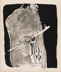 FRITZ SCHOLDER (American b. 1937) Indian Warrior Lithograph on paper 11-1/4 x 8-3/4 inches (28.6