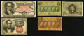 Fractional Currency:Fifth Issue, Various Fractionals.. ... (Total: 5 notes)