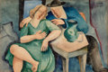 Fine Art - Work on Paper:Watercolor, Béla Kádár (Hungarian, 1877-1955). Man and Woman. Watercoloron paper. 11-3/8 x 17 inches (28.9 x 43.2 cm) (sheet). Sign...