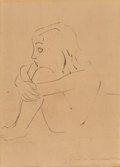 Fine Art - Work on Paper:Drawing, Isamu Noguchi (American, 1904-1988). Untitled. Ink on paper laid on Japon paper. 18-3/4 x 13-3/8 inches (47.6 x 34 cm) (...