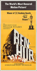 "Movie Posters:Academy Award Winners, Ben-Hur (MGM, R-1969). Three Sheet (41"" X 79""). Academy AwardWinners.. ..."