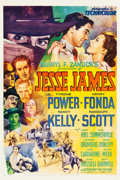 "Movie Posters:Western, Jesse James (20th Century Fox, 1939). One Sheet (27"" X 41"") StyleB. Fredric C. Madan Artwork.. ..."