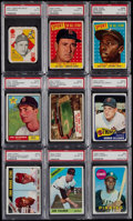 Baseball Cards:Lots, 1951-69 Topps Baseball PSA Graded Collection (9) With Stars andHoFers....