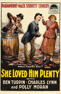 "Movie Posters:Comedy, She Loved Him Plenty (Paramount, 1918). One Sheet (26.5"" X 41"")....."