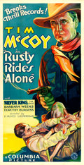 "Movie Posters:Western, Rusty Rides Alone (Columbia, 1933). Three Sheet (41"" X 79.5"").. ..."