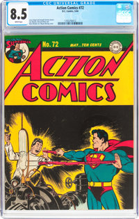 Action Comics #72 (DC, 1944) CGC VF+ 8.5 White pages