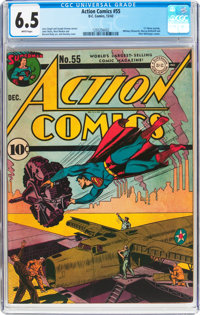 Action Comics #55 (DC, 1942) CGC FN+ 6.5 White pages