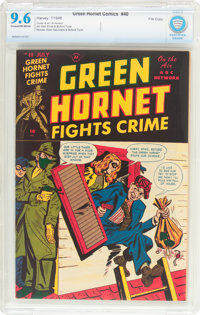 Green Hornet Comics #40 File Copy (Harvey, 1948) CBCS NM+ 9.6 Cream to off-white pages