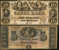 Obsoletes By State:Louisiana, New Orleans, LA - Citizens' Bank of Louisiana $5 18__ Remainder and New Orleans Canal and Banking Company $10 18__ Remai... (Total: 2 notes)