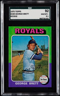 Baseball Cards:Singles (1970-Now), 1975 Topps George Brett #228 SGC 92 NM/MT+ 8.5....