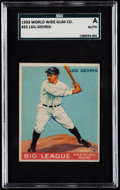 Baseball Cards:Singles (1930-1939), 1933 World Wide Gum Lou Gehrig #55 SGC Authentic....