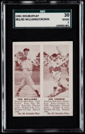 Baseball Cards:Singles (1940-1949), 1941 Double Play Ted Williams/Joe Cronin #81/82 SGC 30 Good 2....