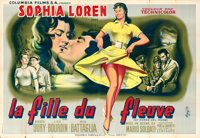 "Woman of the River (Columbia, 1957). French Double Grande (63"" X 92"") Jean Mascii Artwork"