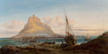 Fine Art - Painting, European:Antique  (Pre 1900), William Pitt (British, 1853-1890). Saint Michael's Mount,Cornwall, 1869. Oil on canvas. 26-1/4 x 50-1/4 inches (66.7 x...