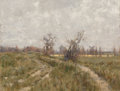 Fine Art - Painting, American:Antique  (Pre 1900), George Hitchcock (American, 1850-1913). Dutch landscape withwindmill, 1891. Oil on canvas. 17-1/2 x 23 inches (44.5 x 5...