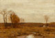 Bruce Crane (American, 1857-1937) November Meadows Oil on canvas 14 x 20 inches (35.6 x 50.8 cm) Signed lower left: