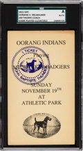 Football Collectibles:Others, 1922 Oorang Indians (Jim Thorpe) vs. Milwaukee Badgers Government Postcard....