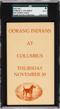 Football Collectibles:Others, 1922 Oorang Indians (Jim Thorpe) vs. Columbus Panhandles Government Postcard....