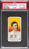 Baseball Cards:Singles (Pre-1930), 1909-11 T206 Piedmont Christy Mathewson Portrait PSA NM-MT+ 8.5....